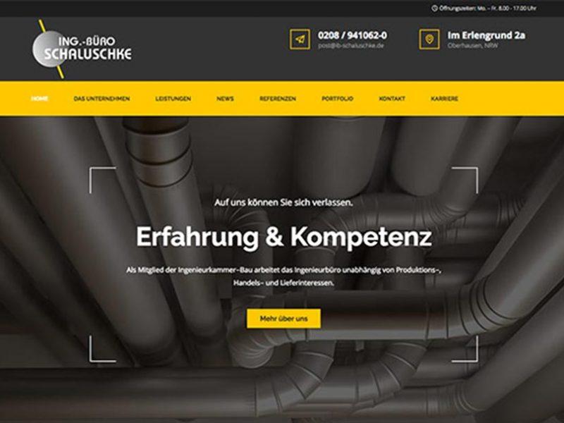 Web-Design Ingenieurbüro Schaluschke