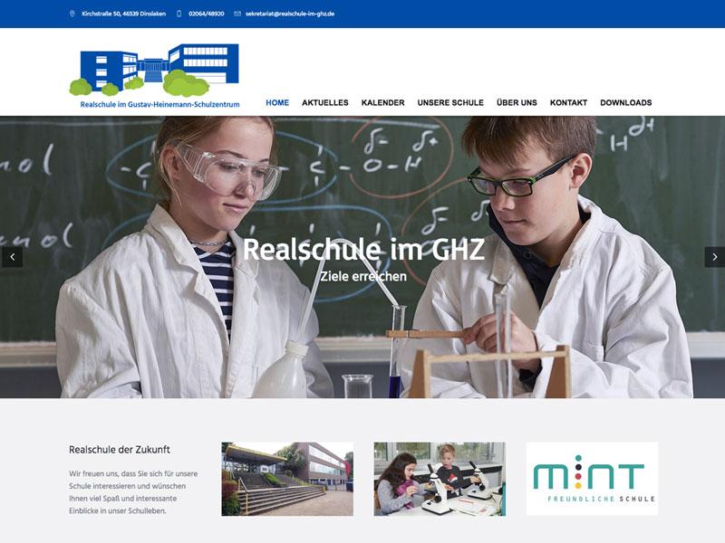 Web-Design Realschule am GHZ